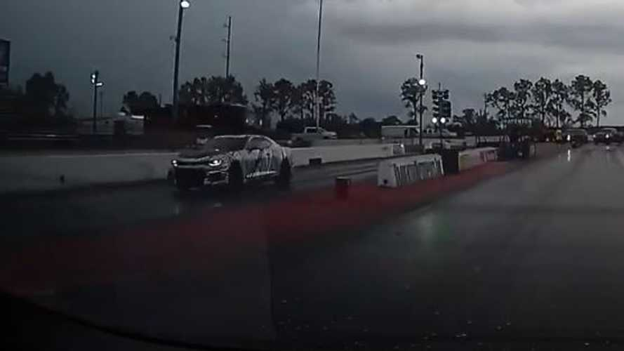 Watch Tesla Model S Raven Destroy New Chevy Camaro ZL-1 In Drag Race