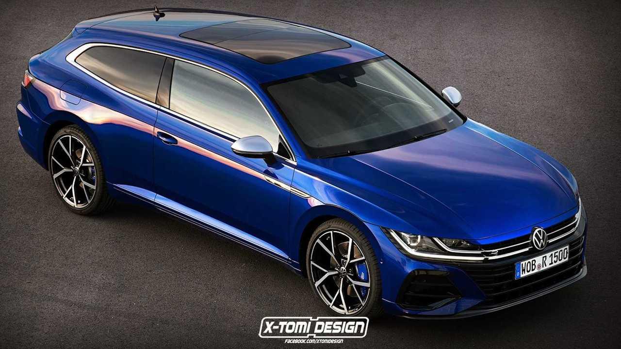 2021 VW Arteon Three-Door Shooting Brake Rendering