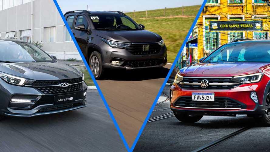 Semana Motor1.com: Novos VW Nivus, Fiat Strada e Chery Arrizo 6 são lançados