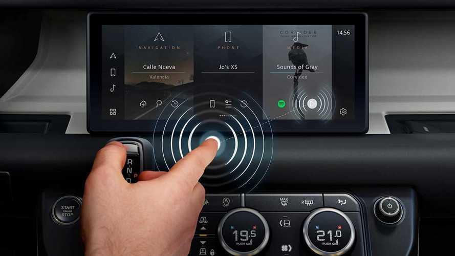 Jaguar Land Rover presenta lo schermo touch, senza touch