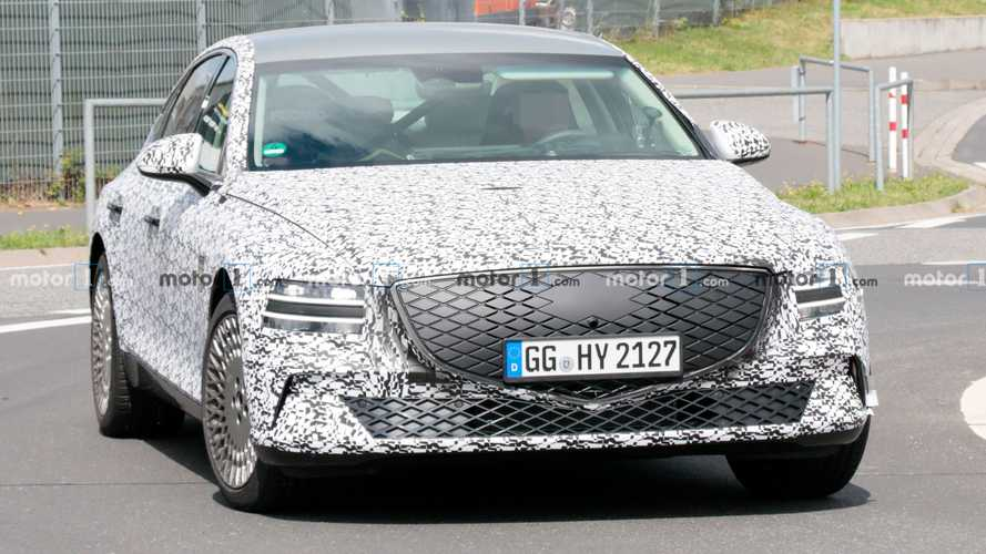 Genesis G80 Electric Spied Silently Testing At The Nürburgring