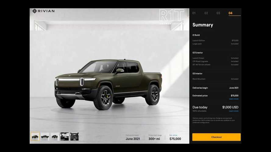 Rivian Configurator Shows Kitchen Costs $5,000, Top Battery Pack $10,000