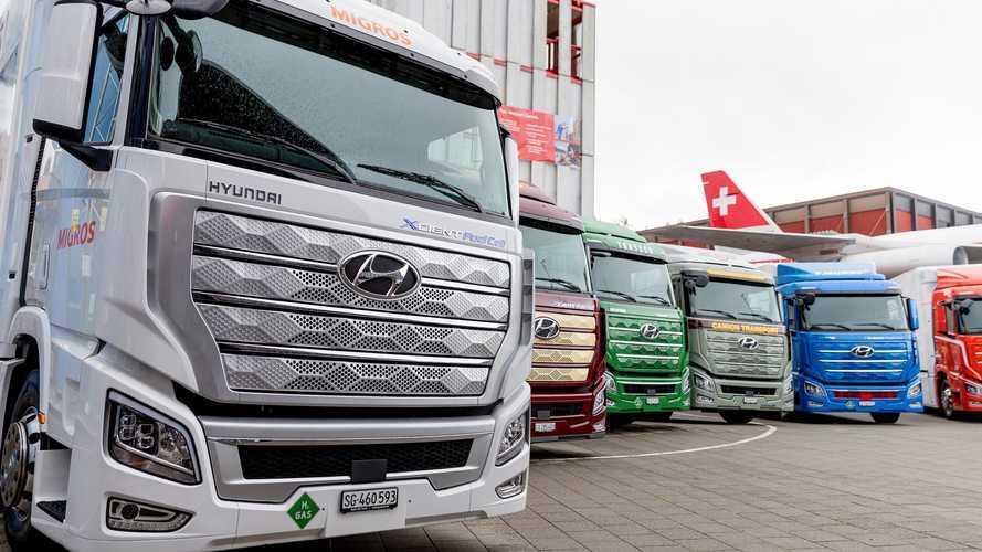 Hyundai inicia entregas do 1º caminhão elétrico a hidrogênio do mundo