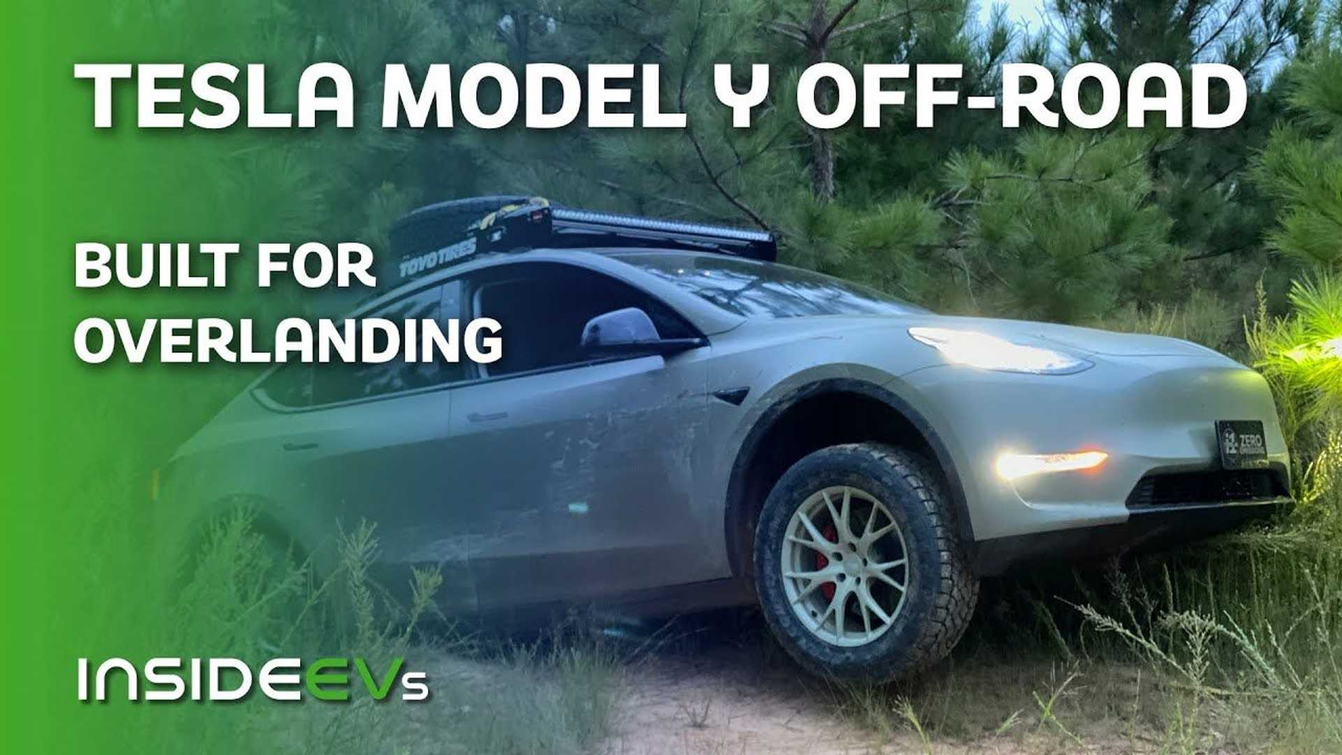Watch This Lifted Tesla Model Y Get Down And Dirty In Off-Road Adventure