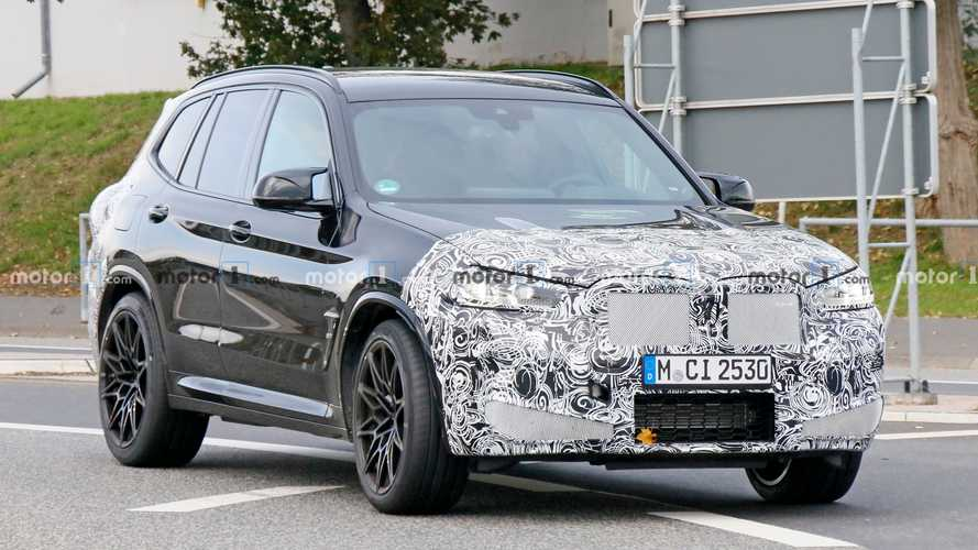 BMW X3 M Facelift Spied Entering And Lapping Nurburgring