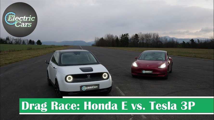 How Does The Honda E Compare To Tesla Model 3 In Various Drag Races?