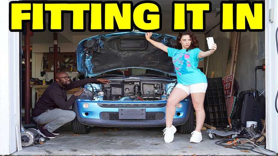 Mini EV Conversion Made By Rich Rebuilds Now Has A $200 Motor