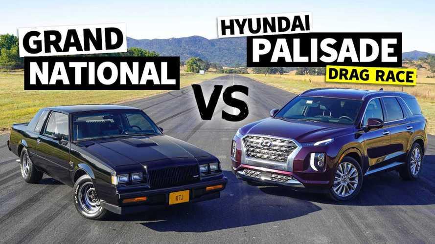 2020 Hyundai Palisade Meets 1987 Buick Grand National In Drag Race