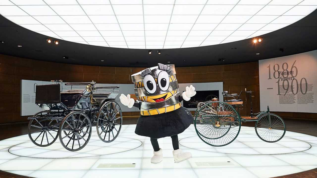 Mercedes Museum Mascot Is A Building In A Skirt And We're Confused