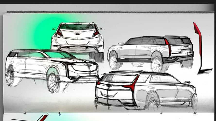 Official Cadillac Sketch Imagines Future SUV With Rear Barn Doors