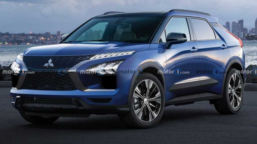 Mitsubishi E-Evolution Electric Performance SUV Rendered Looking Sharp