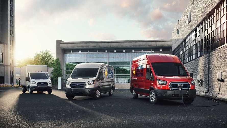 Электрический Ford Transit удивил мощью и задней подвеской