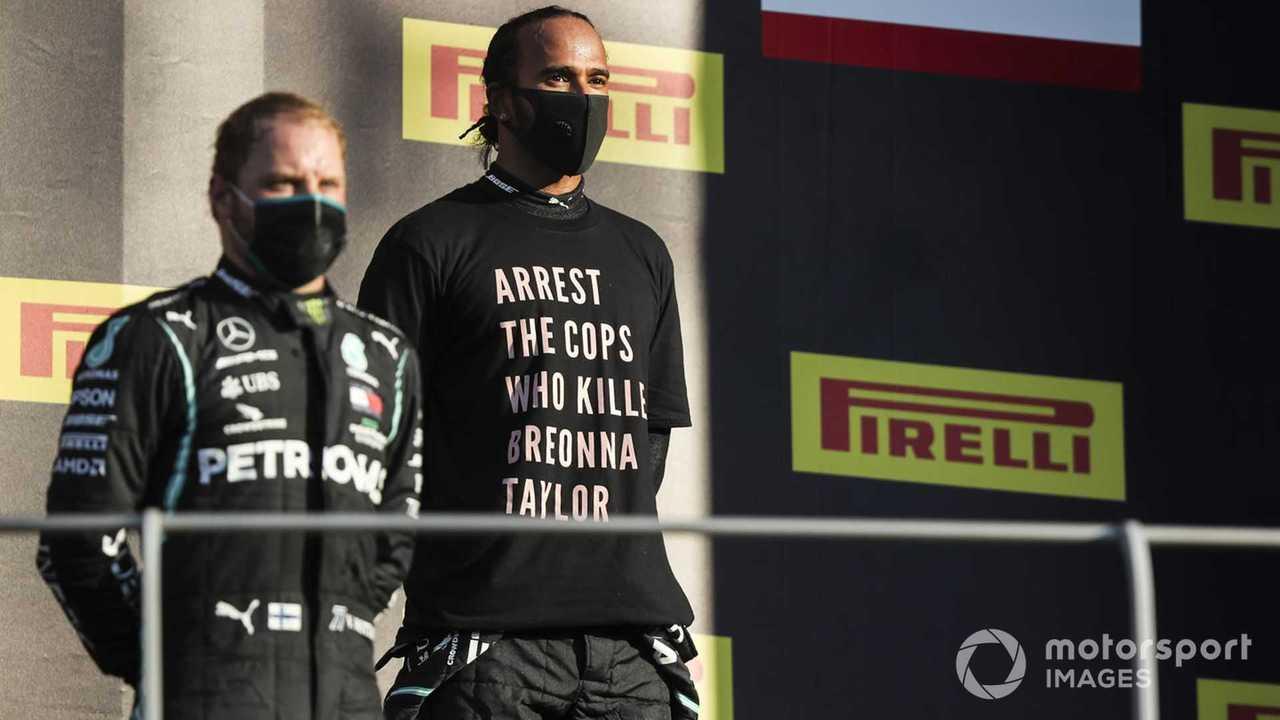 Valtteri Bottas and Lewis Hamilton at Tuscany GP 2020