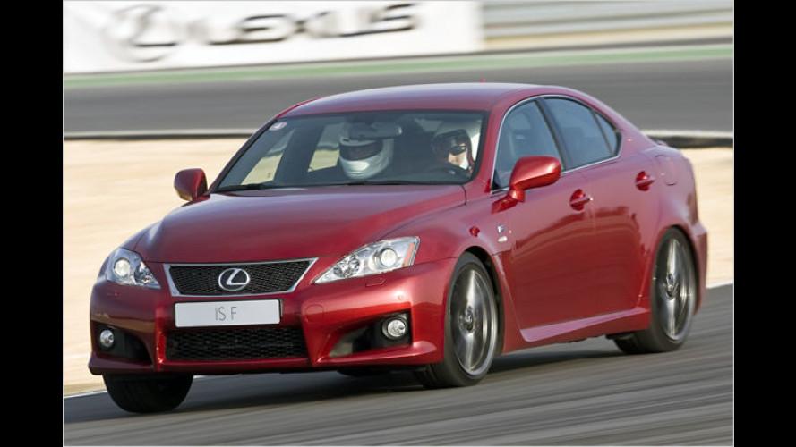 Nix mit Hybrid: Der Lexus IS-F mit 423 PS im Test