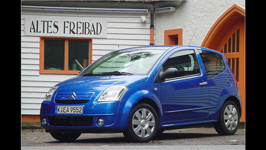 Citroën C2 Stop&Start (2006): Stadtflitzer im Test