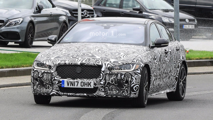 2019 Jaguar XE SVR spy photos