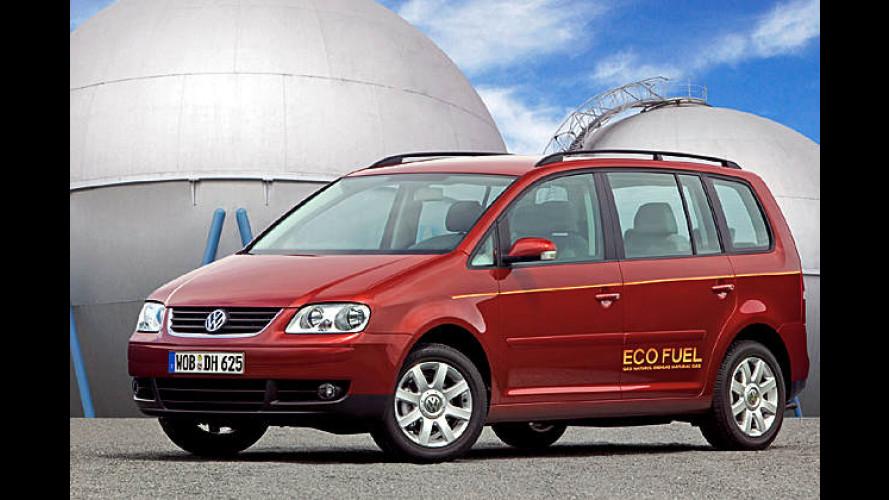Erdgas-Touran von VW: 2.900 Euro teurer, aber rentabel