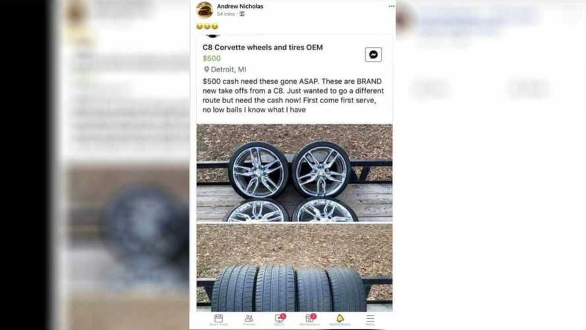2020 Corvette's Stolen Wheels Have Turned Up For Sale, Sort Of