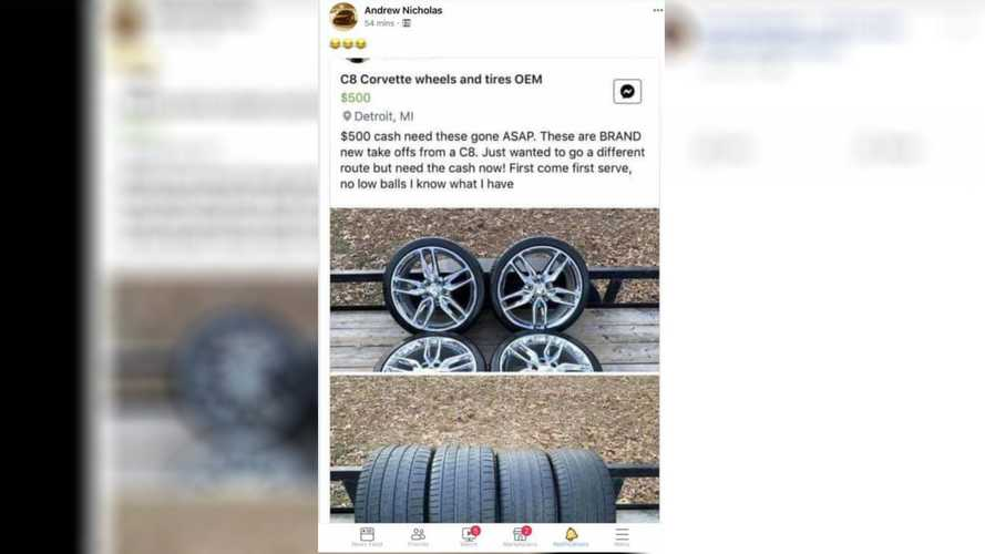 2020 Corvette's Stolen Wheels Have Turned Up For Sale, Sort Of