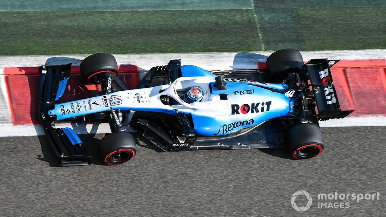 Nicholas Latifi in Williams FW42 at Abu Dhabi Dec test 2019