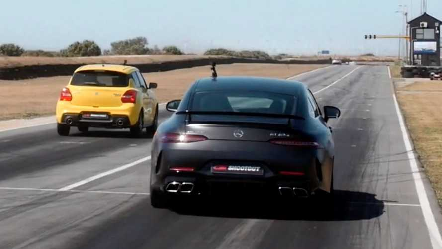 Suzuki Swift Sport Has Weird Drag Race Against Mercedes-AMG GT 63 S