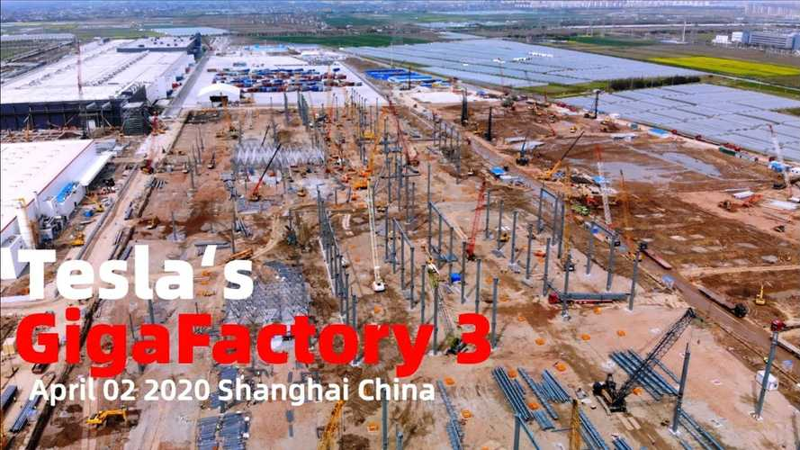 Tesla Gigafactory 3 Construction Progress Through April 3, 2020: Video