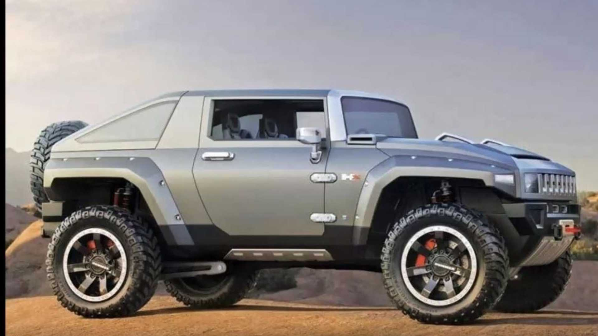 Hummer HX Comes Back To Life As Rugged Electric Off-Road SUV