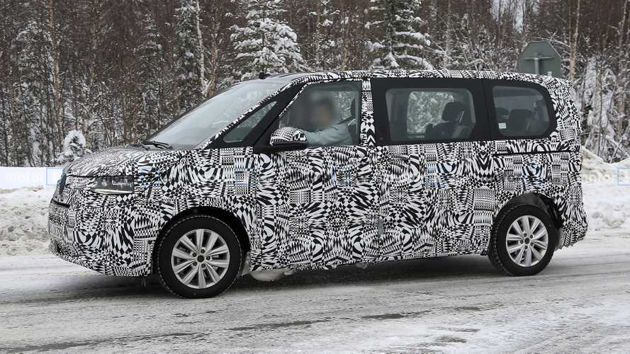 New VW T7 spied testing as Multivan with production body