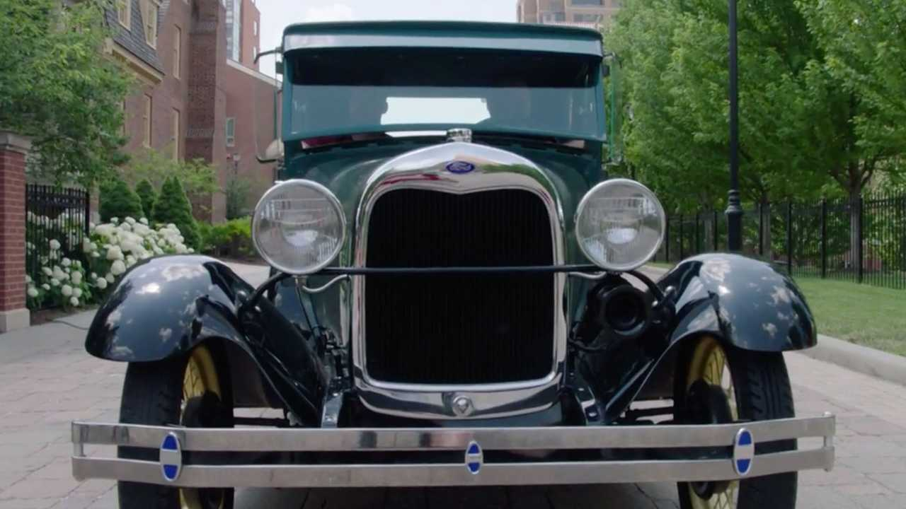 Chief's Coach Andy Reid Drives Father's Model A Bought For $25