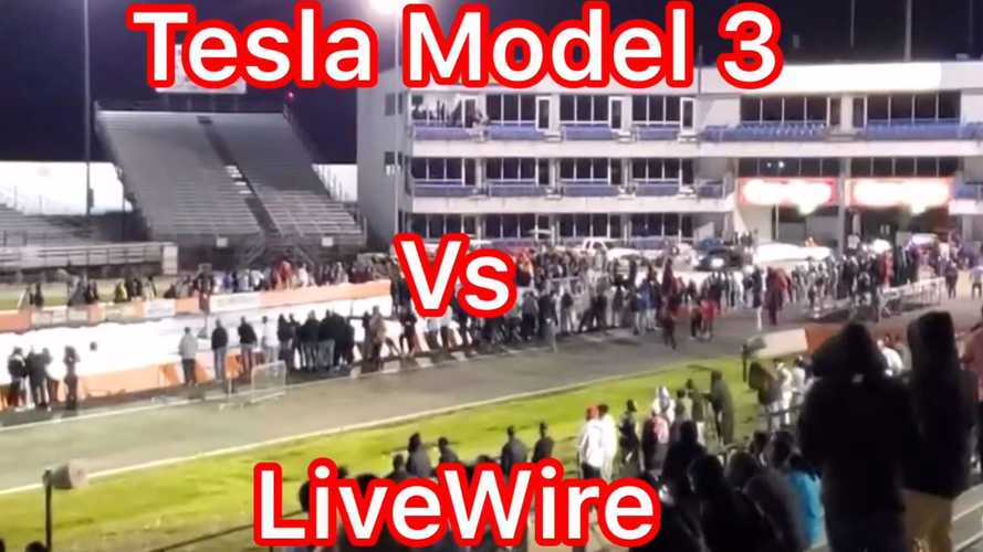 Watch Tesla Model 3 Performance Race Harley-Davidson Livewire