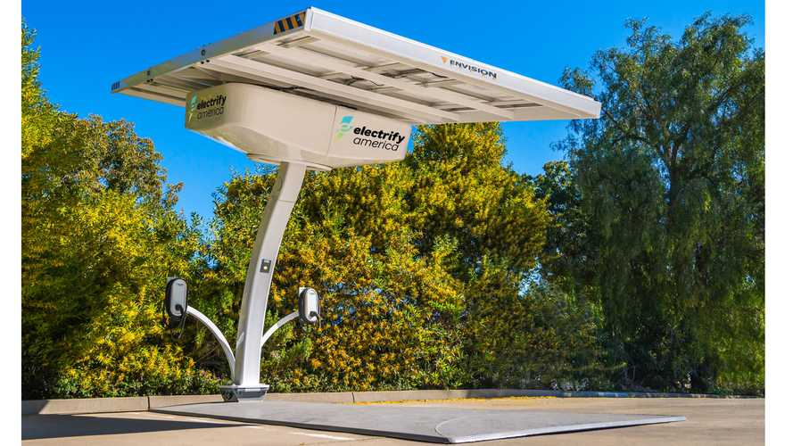 Electrify America To Deploy Off-Grid Solar Powered EV Chargers