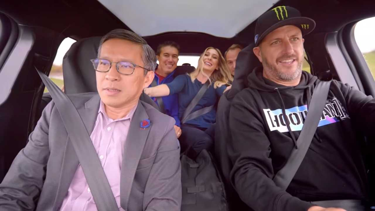 Ken Block drives the Ford Mustang Mach-E