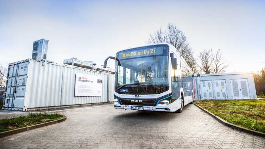 Old PHEV Batteries Get Second Life At EV Bus Charging Station