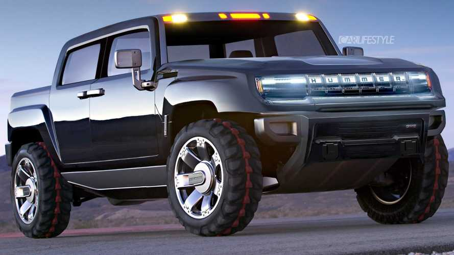 Hummer Electric Pickup Truck Rendering Goes Old School