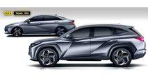 2021 Hyundai Tucson yeni nesil render