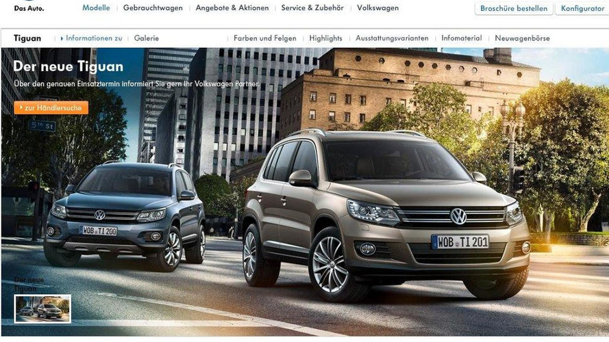 Volkswagen Tiguan facelift accidentally spilled?
