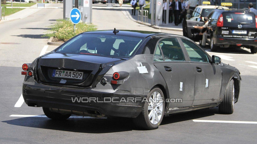 Next gen 2012 Mercedes S-Class pseudo mule-prototype spied for first time