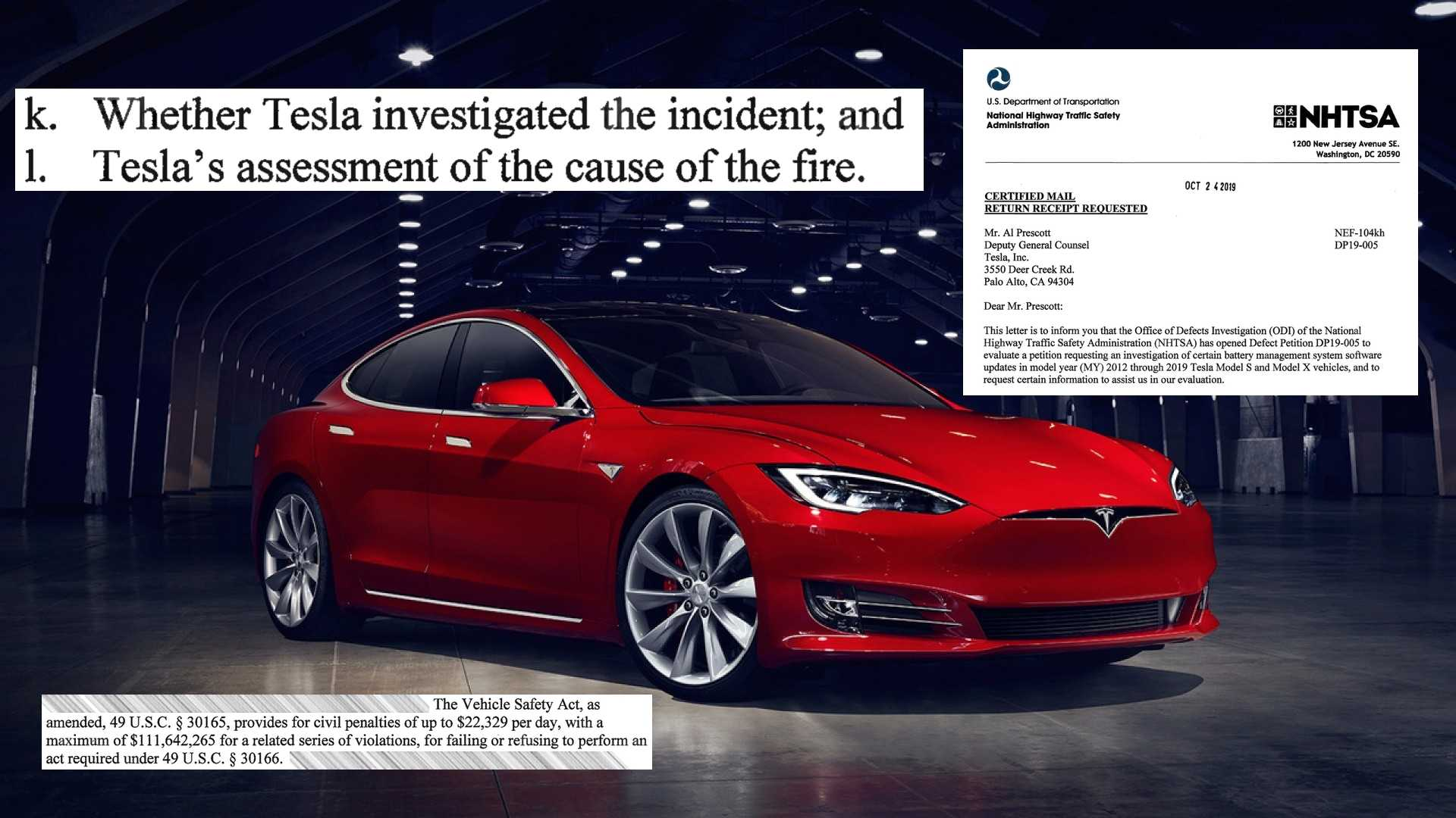 NHTSA Accepted A Defect Petition About Tesla Model S