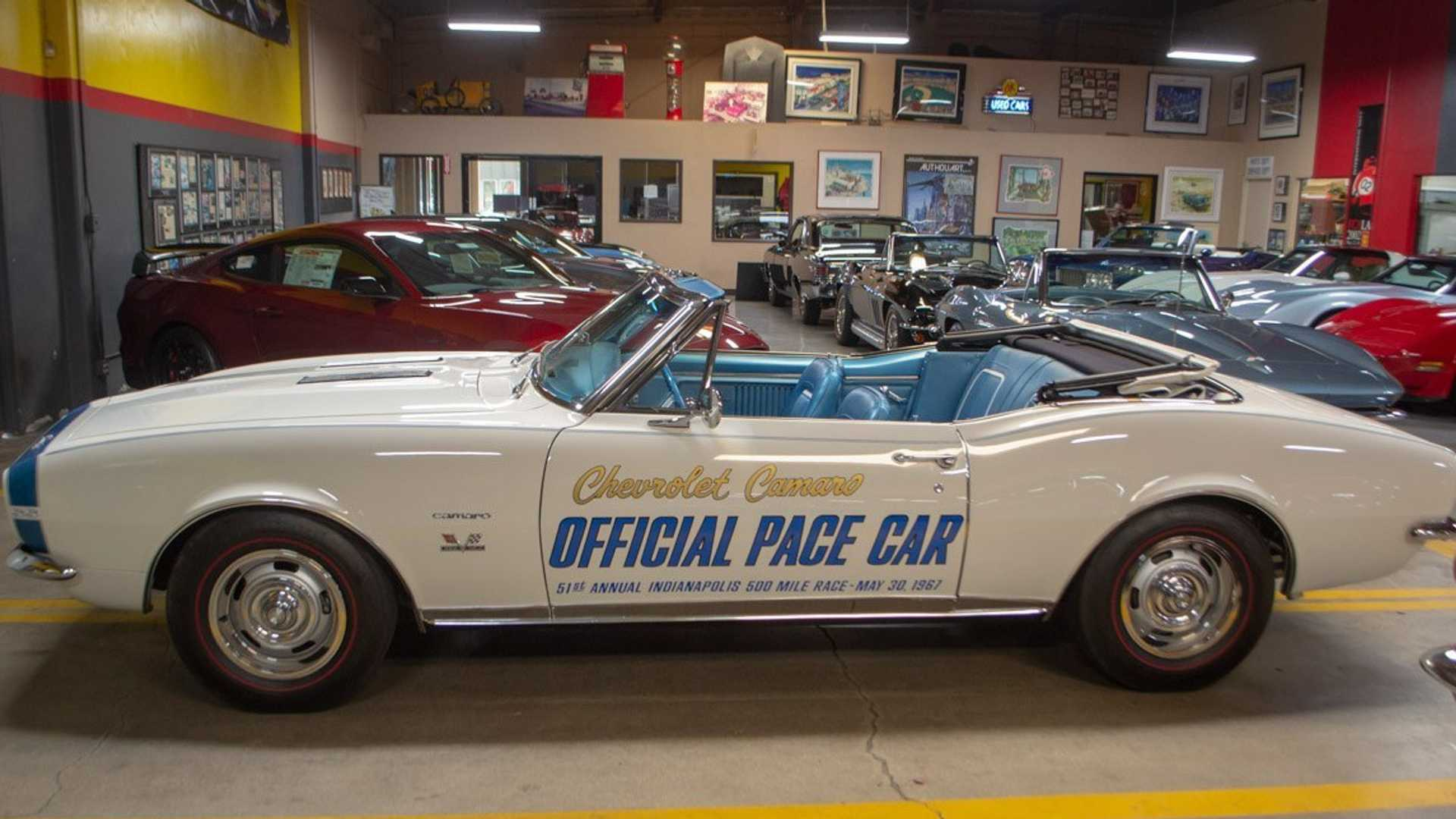 Buy This 1967 Chevrolet Camaro Pace Car Signed By Indy Winner Aj Foyt Corvette Mike Used Chevrolet Corvettes For Sale