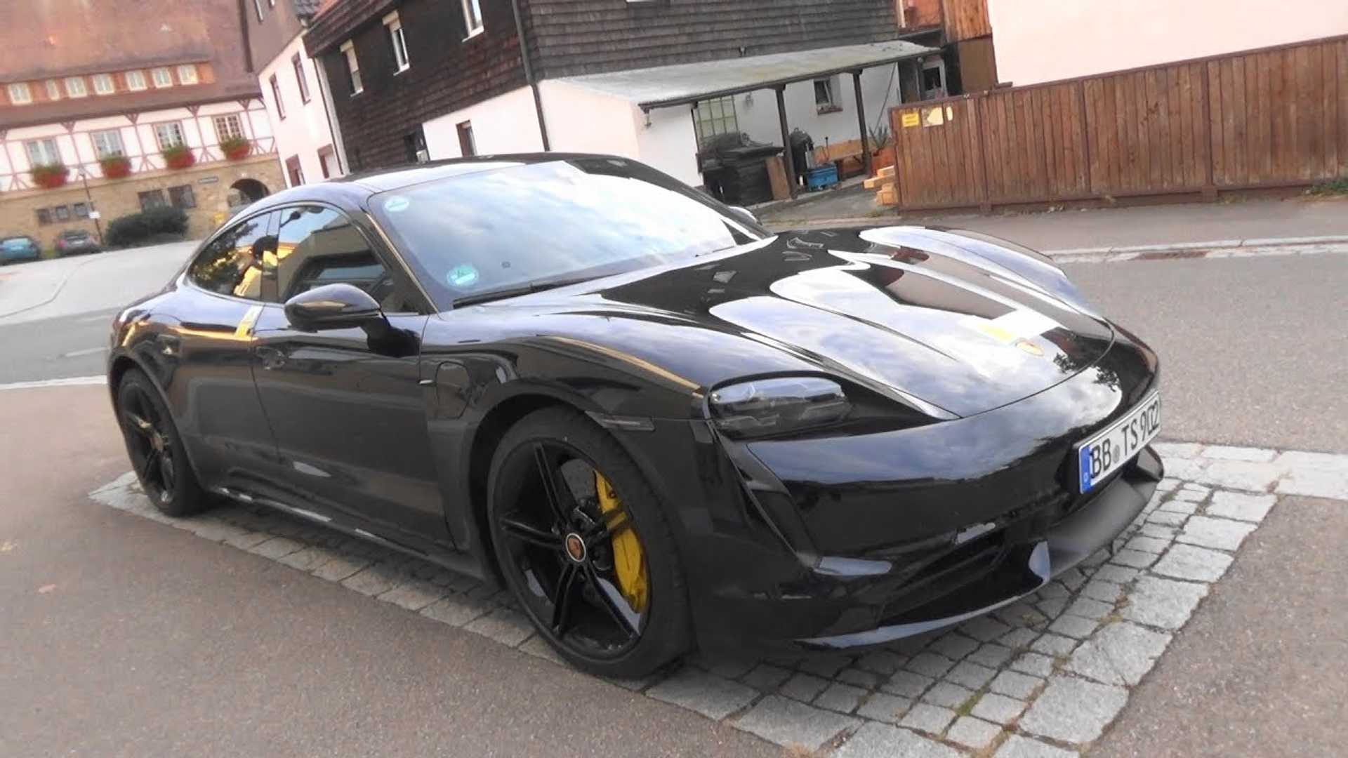 Porsche Taycan Turbo S Spotted Undisguised In Public