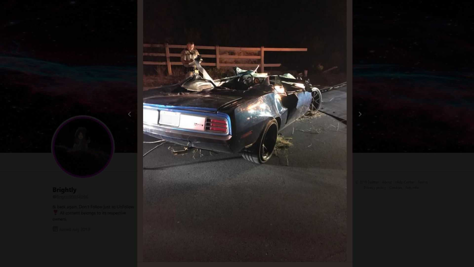 "[""Kevin Hart Seriously Injured After Plymouth 'Cuda Crash""]"