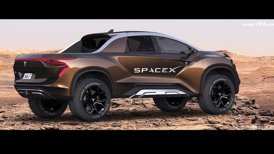 Tesla Pickup Truck Surfaces As Rad SpaceX Off-Roader On Mars