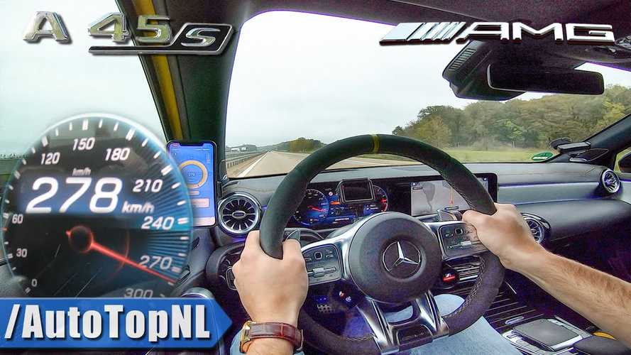 Mira cómo el Mercedes-AMG A45 S alcanza su velocidad máxima de 168 MPH