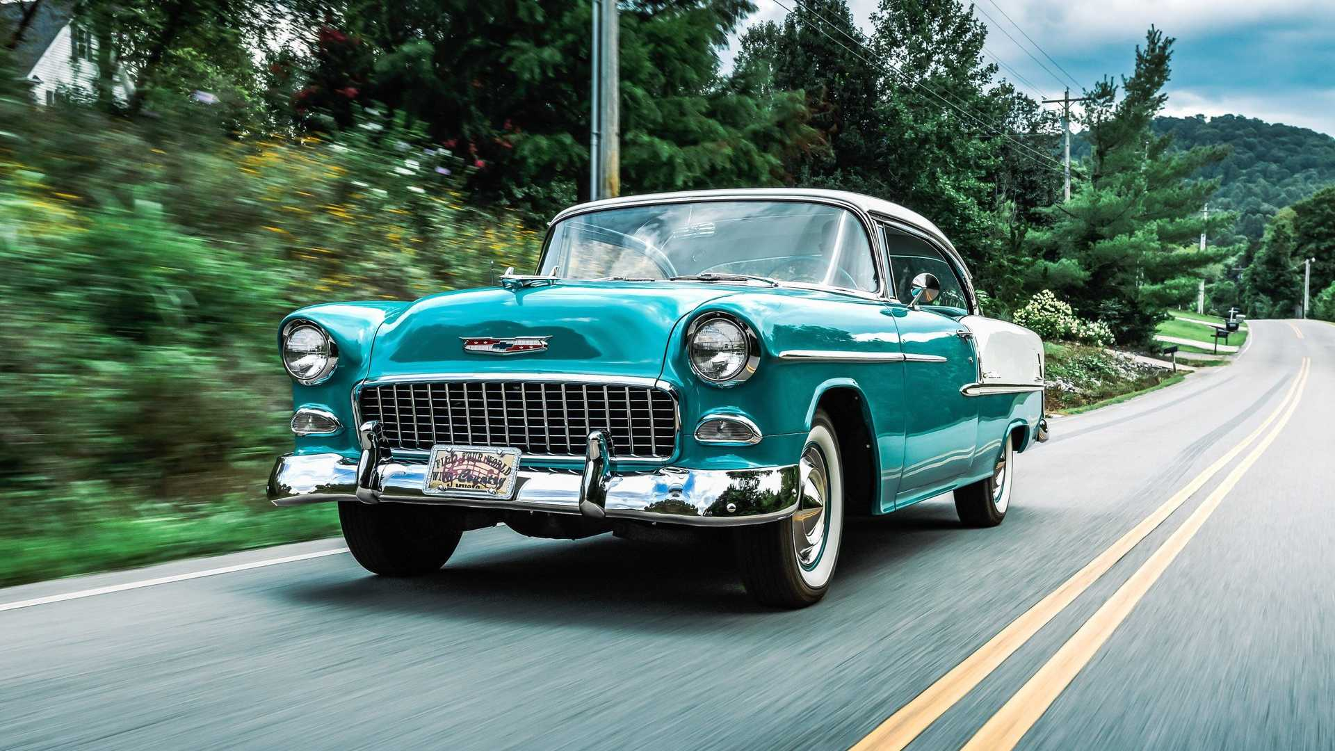 "[""Take The Grand Tour With George Jones' 1955 Chevy Bel Air""]"
