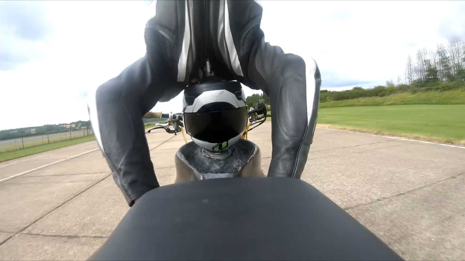 Watch the world's fastest motorcycle headstand