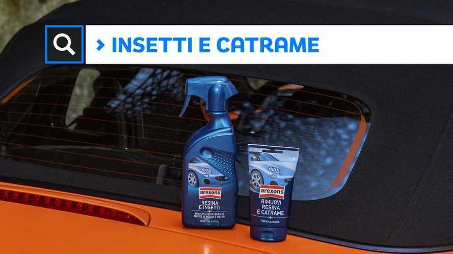 Pulizia auto, come rimuovere il catrame e gli insetti