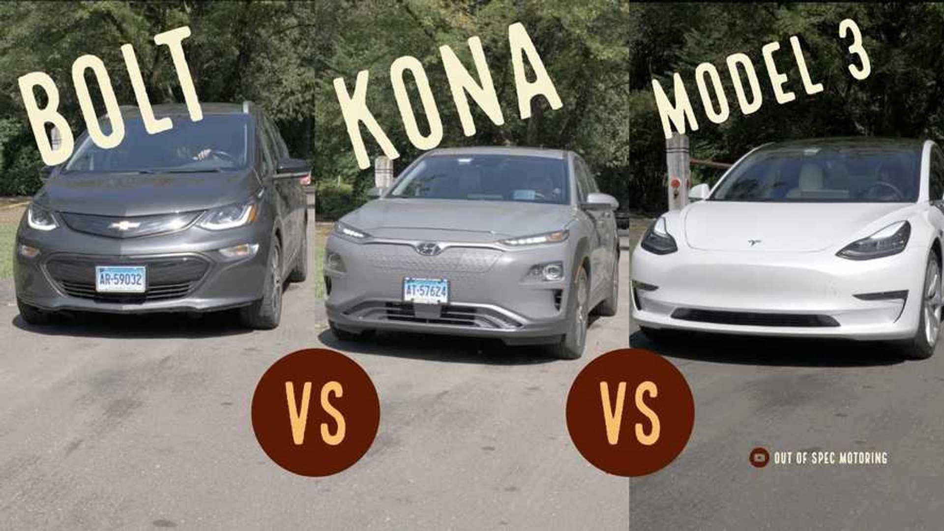 Tesla Model 3, Hyundai Kona EV, Chevy Bolt: How Do They Compare?