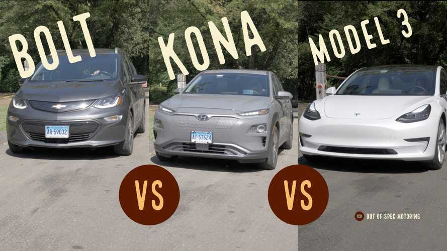 Tesla Model 3, Hyundai Kona EV, Chevy Bolt: How Do They Compare?