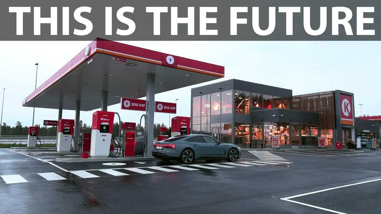 Brand new Circle K with 300 kW fast chargers (source: Bjorn Nyland)