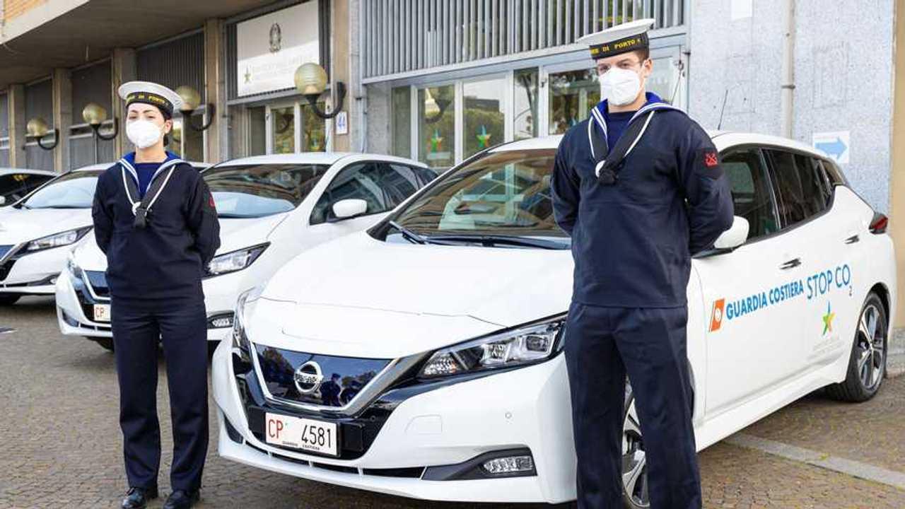 Nissan Leaf con la Capitaneria di Porto